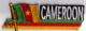 Cameroon Embroidered Flag Patch, style 01.